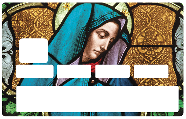 Sticker pour carte bancaire, La vierge du vitrail
