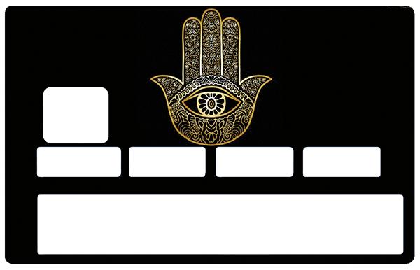 Sticker pour carte bancaire, Khamsa, main de Fatima