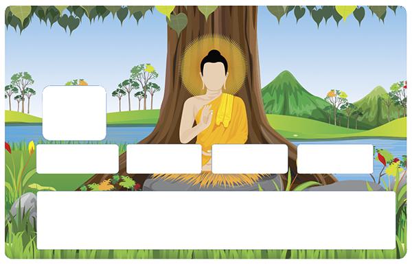 Sticker pour carte bancaire, Bouddha