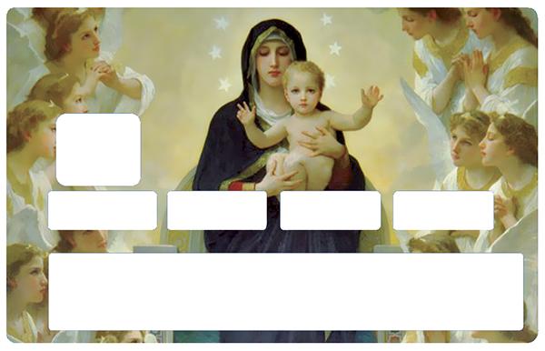 Sticker pour carte bancaire, La vierge a l\'enfant