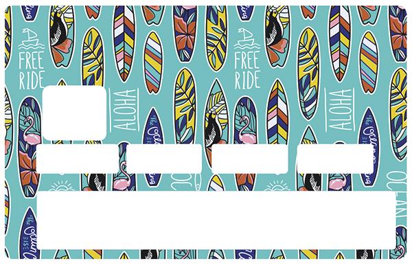 Sticker pour carte bancaire, Surf