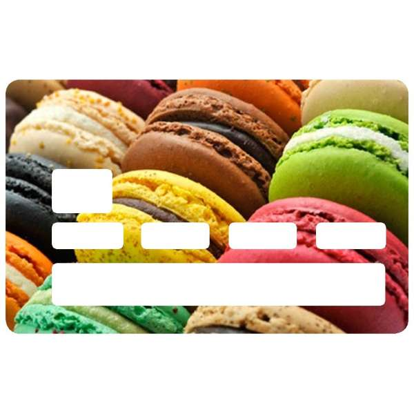 Sticker pour carte bancaire, Macaron
