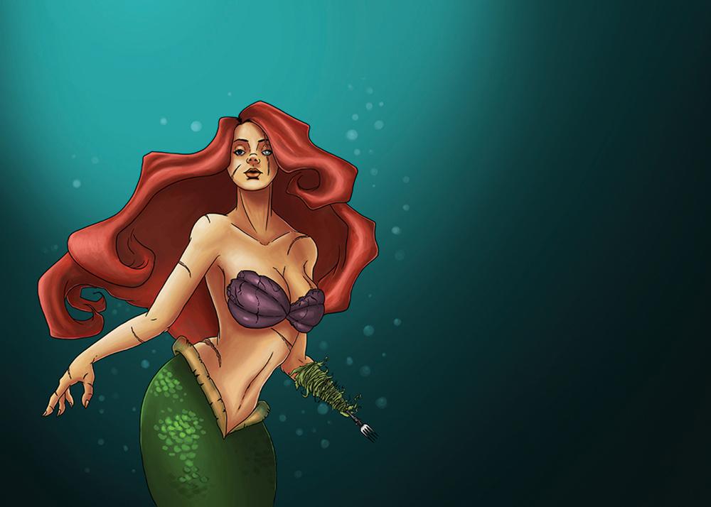 impression-sur-toile-Little-mermaide