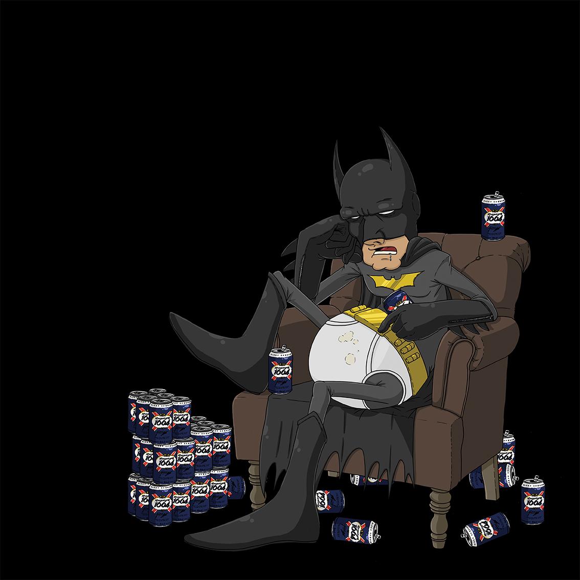 Batman Hangover de Damien Garavagno,  Dim: 40 cm x 40 cm