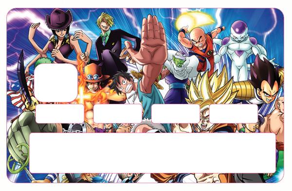 Sticker pour carte bancaire, Manga Family
