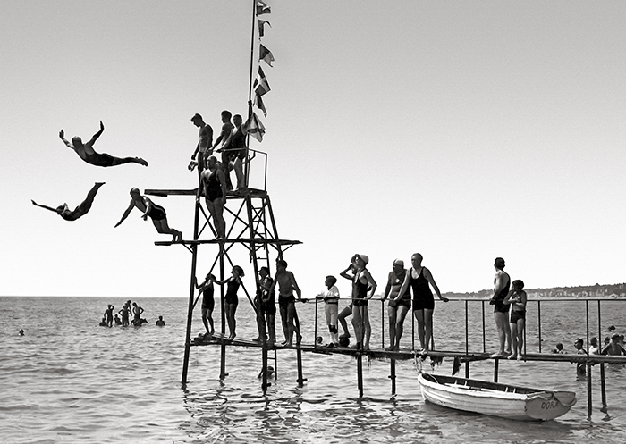 Les plongeurs de nice en 1910