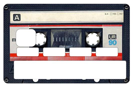 Sticker pour carte bancaire, K7
