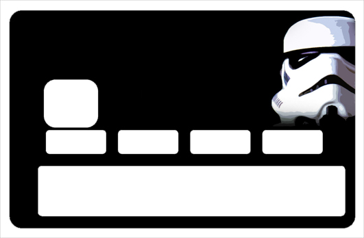 Sticker pour carte bancaire, Tribute to Stormtroopers