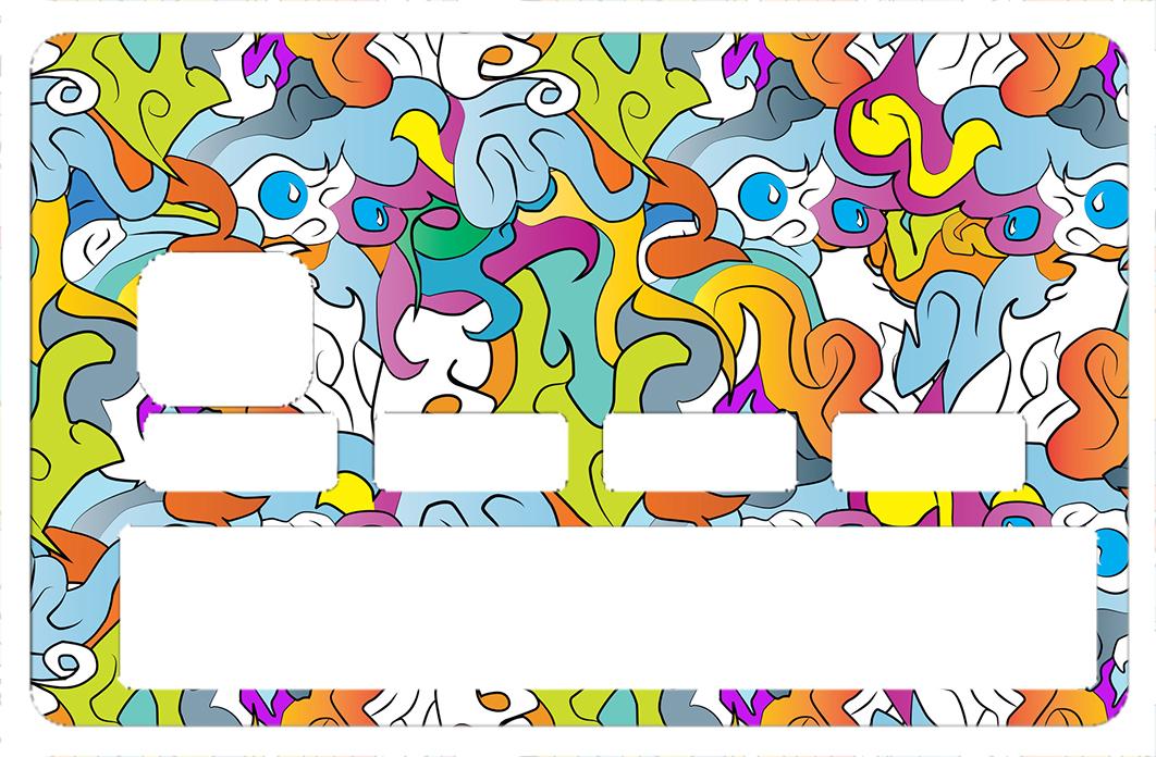 Sticker pour carte bancaire, Graffiti Strange 2016