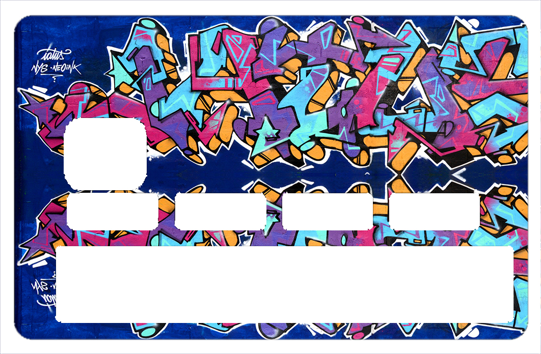 Sticker pour carte bancaire, Graffiti Wall mirror 2016