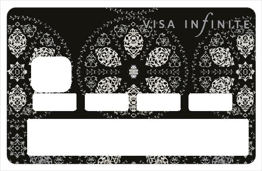 stickers cb decoratif pour carte bancaire infinite black cr e par le dgedenice. Black Bedroom Furniture Sets. Home Design Ideas