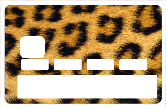 Sticker pour carte bancaire, Leopard