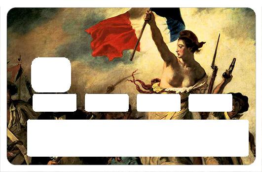 Sticker pour carte bancaire, Liberté, egalité, fraternité