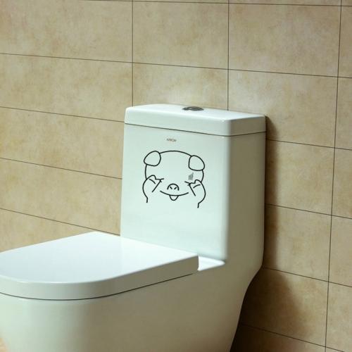 sticker d coratif pour toilette petit cochon destockage the little boutique. Black Bedroom Furniture Sets. Home Design Ideas