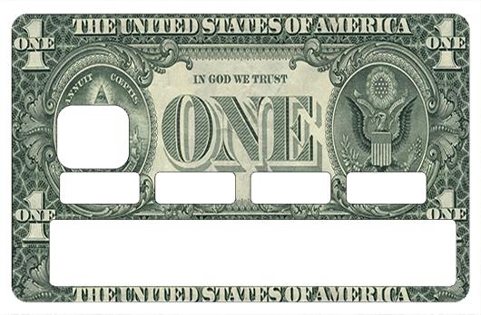 Sticker pour carte bancaire, One dollar