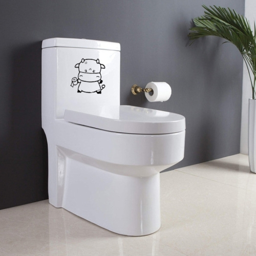 Sticker décoratif pour toilette, Petite Vache