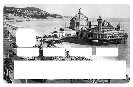 Sticker pour carte bancaire, La jetée Promenade de Nice