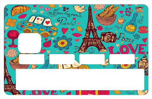 Sticker pour carte bancaire, Paris sera toujours Paris