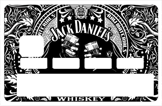 Sticker pour carte bancaire, Tribute to I Love JACK DANIEL\'S