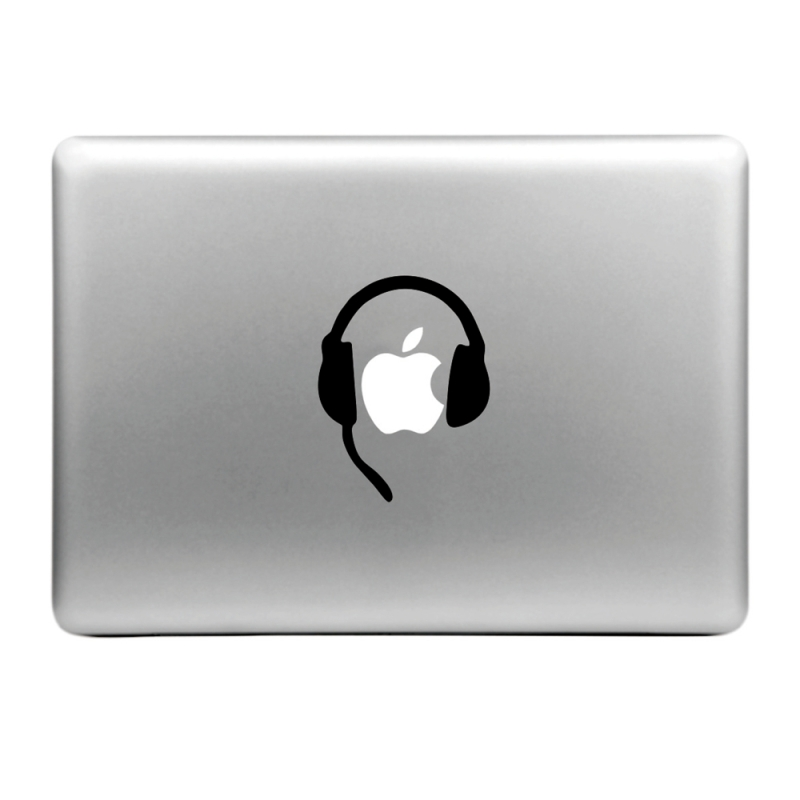 Sticker pour MacBook ou ipad, CASQUE AUDIO