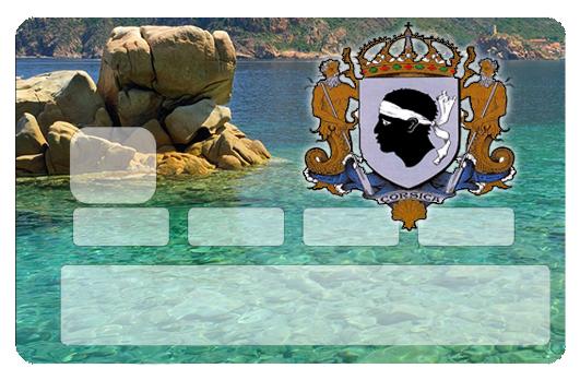 Sticker pour carte bancaire, Les rochers corse