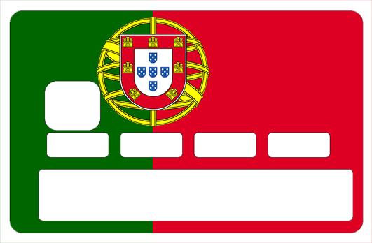 Sticker pour carte bancaire, drapeau du Portugal