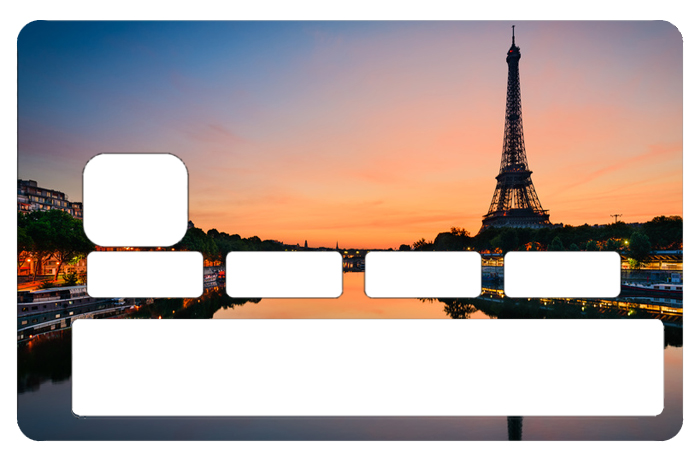 Sticker pour carte bancaire, Paris et la tour Eiffel