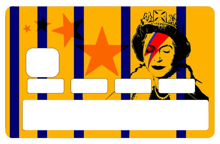 Sticker pour carte bancaire, Tribute to Bowie Vs Banksy