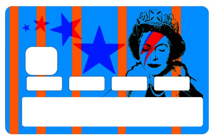 Sticker pour carte bancaire, Tribute to Bowie Vs Banksy Vs Elisabeth