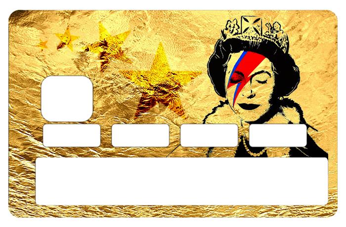 Sticker pour carte bancaire, Tribute to Bowie Vs Banksy gold