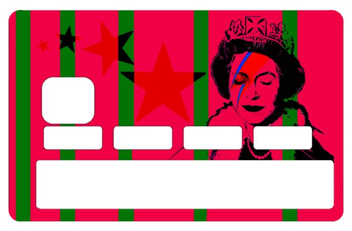 Sticker pour carte bancaire, Tribute to Bowie Vs Banksy Flash