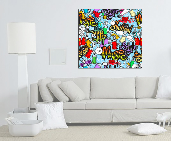 impression sur toile graffiti bomb les impression photo sur toile pop art the little boutique. Black Bedroom Furniture Sets. Home Design Ideas