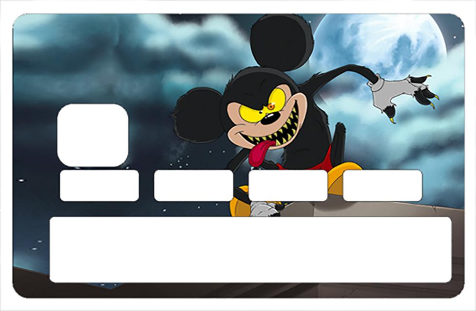 Sticker pour carte bancaire, MICKEY GAROU- crée par Damien Garavagno
