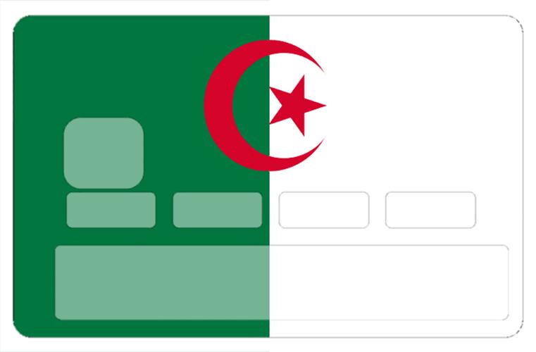 Sticker pour carte bancaire, drapeau de l\'Algerie