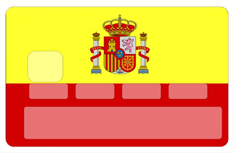 Sticker pour carte bancaire, drapeau de l\'Espagne