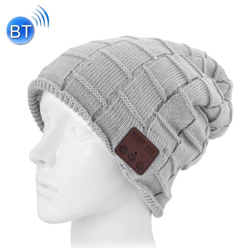 Bonnet avec écouteurs intégrés, main libre sans fil, bluetooth, motif carré