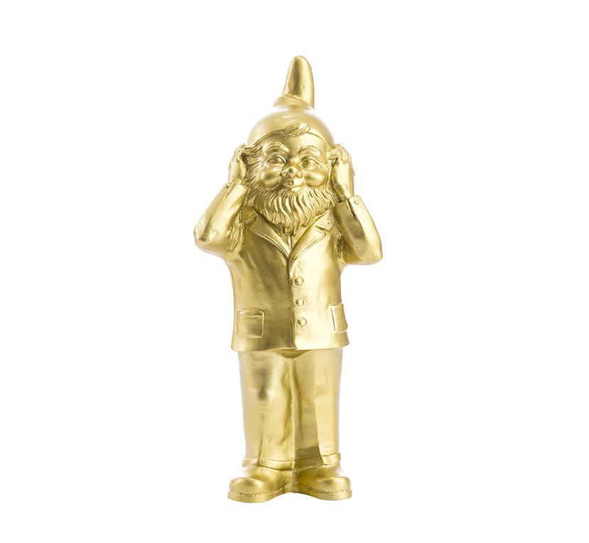 Statuette Le Nain qui ne veut pas entendre, de Ottmar Hörl