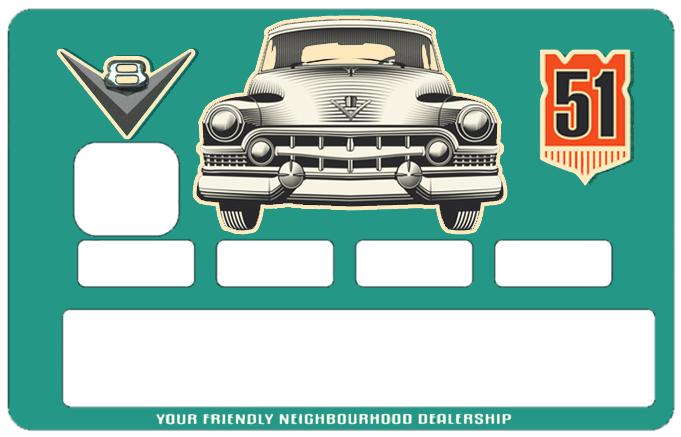 Sticker pour carte bancaire, Cadillac 52
