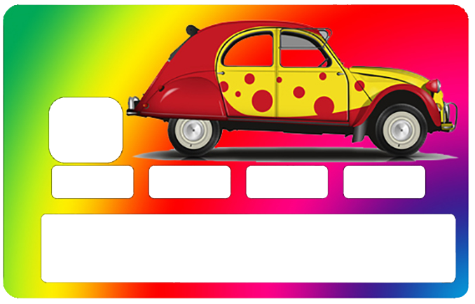 stickers cb  decoratif  pour carte bancaire  2 cv