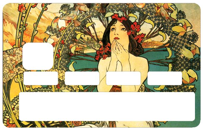 Sticker pour carte bancaire, la Femme Art Deco