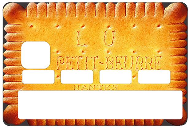 Sticker pour carte bancaire, le Petit beurre de LU