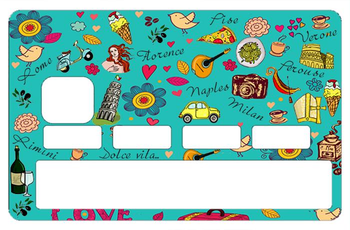 Sticker pour carte bancaire, Italie, la Dolce vita