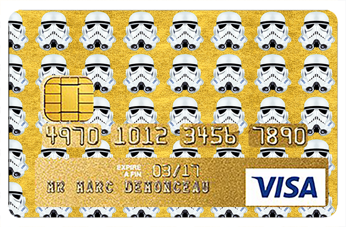 Sticker pour carte bancaire, Tribute to Stormtrooper GOLD