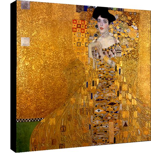 Portrait d\'Adele Bloch-Bauer par Gustav Klimt , Dim: 70 cm x 70 cm