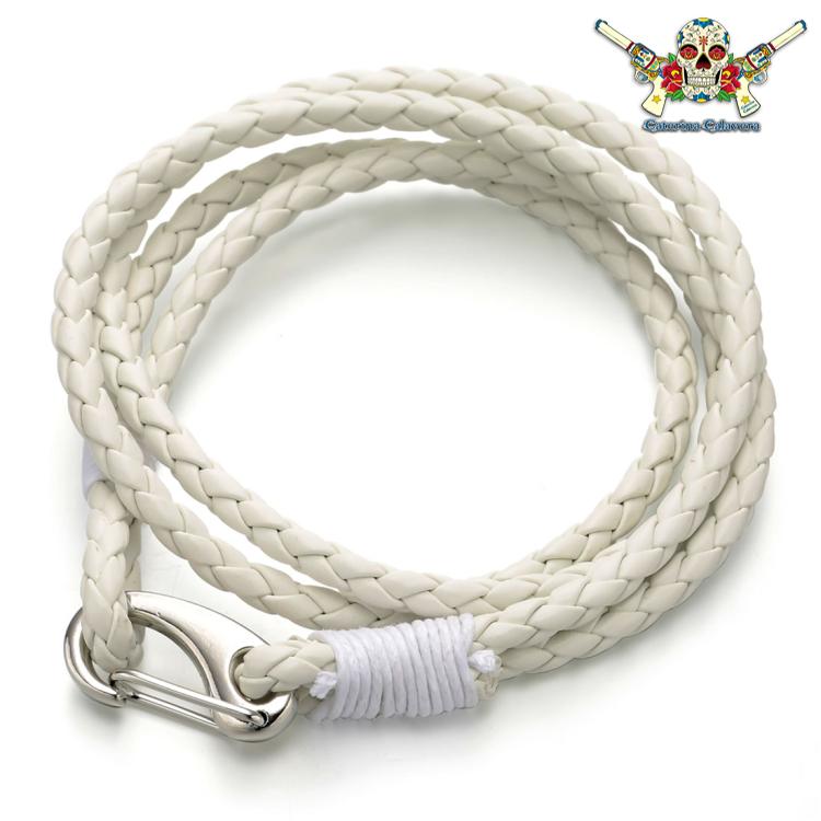 Bracelet Homme, CAP HORN, 2 tours blanc