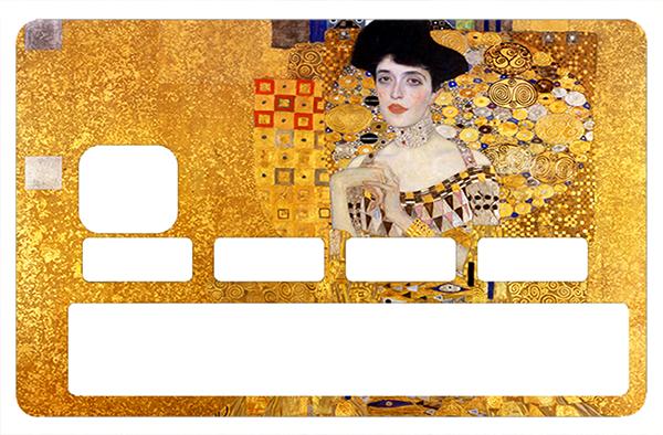 Sticker pour carte bancaire, Tribute to Adele Bloch-Bauer  de Gustav Klimt