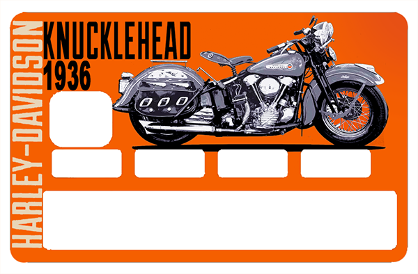 Sticker pour carte bancaire, Tribute to Harley Davidson KNUCKLEHEAD