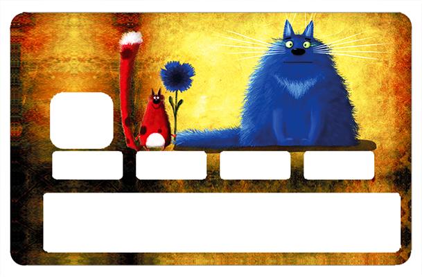 Sticker pour carte bancaire, les chats
