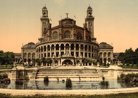 Paris,  le Trocadero 1900, Dim. : 50 cm x 70 cm