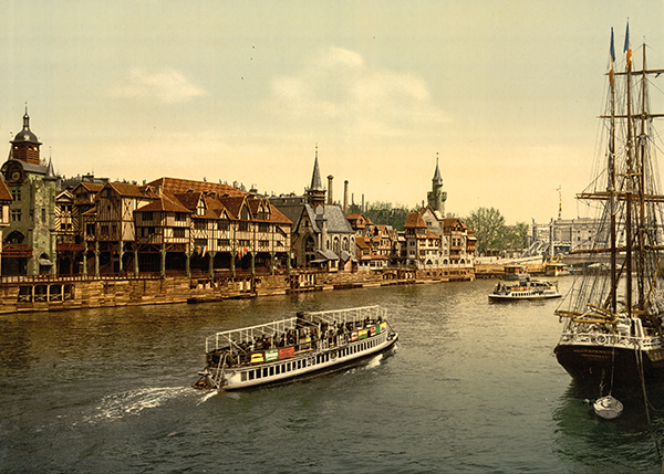 Le vieux Paris et la seine,  1900, Dim. : 50 cm x 70 cm
